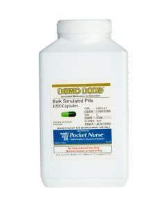 Demo Dose® Capsule Lt Green/Dk Green Medium Oval- 1000 Pills/Jar