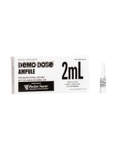 Demo Dose® Clear Ampule, 2mL