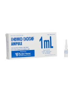 Demo Dose® Clear Ampule, 1mL