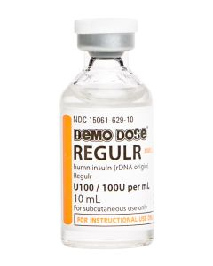Demo Dose®  Regulr Insuln  100 units mL 10mL