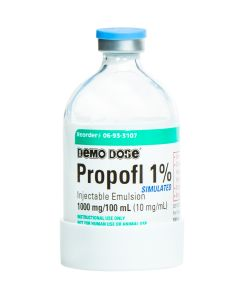 06-93-3107P Demo Dose® Propofl Injection Emulsion 1%