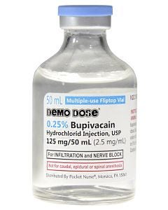 Demo Dose® Bupivacain HCl Injection 125mg/50mL 50mL