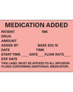Medication Added Label - 10/Pack
