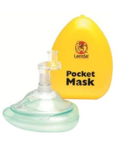 Laerdal Pocket Mask with gloves in Hard Yellow Case