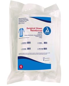 Surgical Gown Set Reinforced Zones, Medium