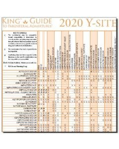 2020 Y-Site Compatibility of Chemotherapy Admixtures Wall Chart