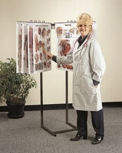 09-31-9900 Space-Saver Chart Display Stand