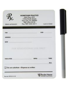 Pocket Nurse® Pharm Ed Dry Erase Prescription Pad Deck