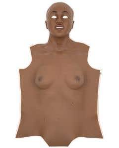 Dark Skin Overlay for Nursing Anne Simulator, Front