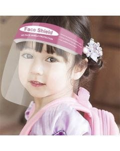 12-75-1109 Child Face Shield with Foam Strap, Blue