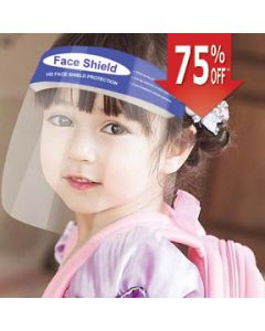 Child Face Shield with Foam Strap, Blue